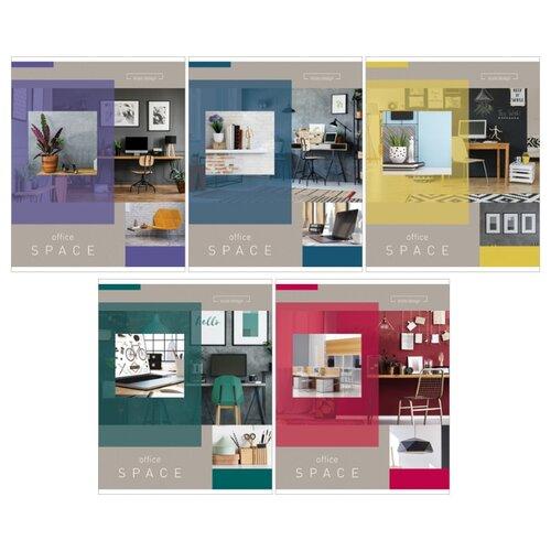 Купить ArtSpace Упаковка тетрадей Офис, 5 шт./5 дизайнов, клетка, 60 л., Тетради