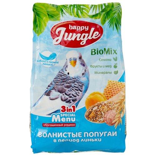Happy Jungle Корм Special Menu для волнистых попугаев в период линьки 500 г