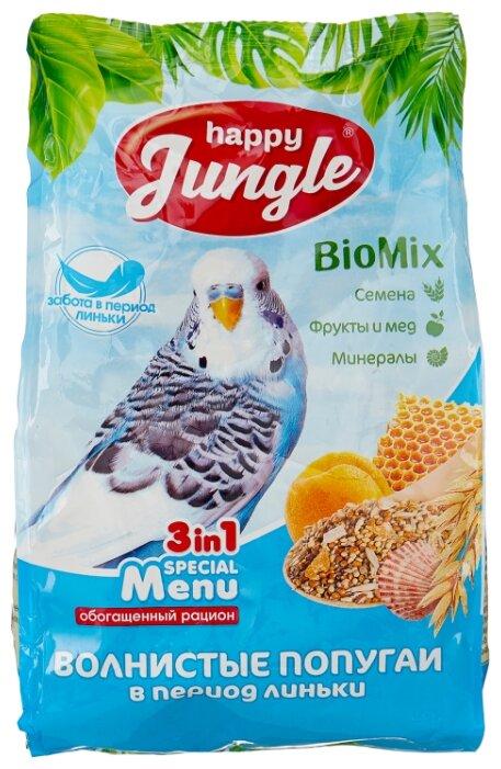 Happy Jungle Корм Special Menu для волнистых попугаев в период линьки