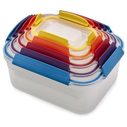 Joseph Joseph Набор контейнеров для хранения продуктов Nest Lock 81081/81105 разноцветный недорого