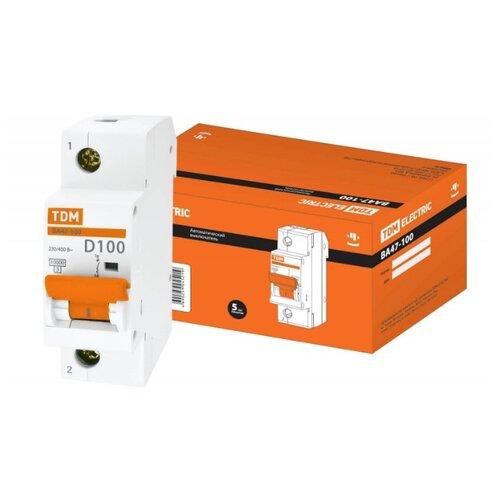 Автоматический выключатель TDM ЕLECTRIC ВА 47-100 1P (D) 10kA 100 А