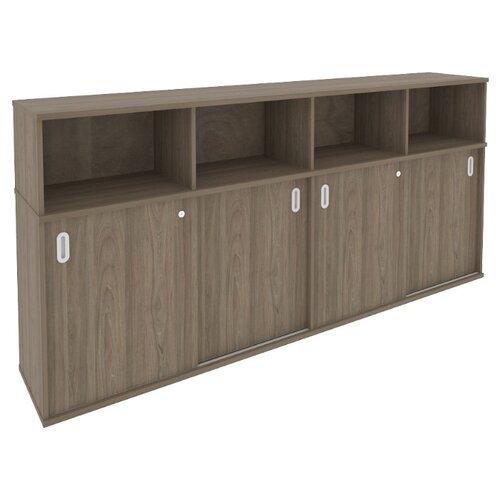 Шкаф офисный Riva Б.ШК-4 233.2x41x109.8 см вяз благородный