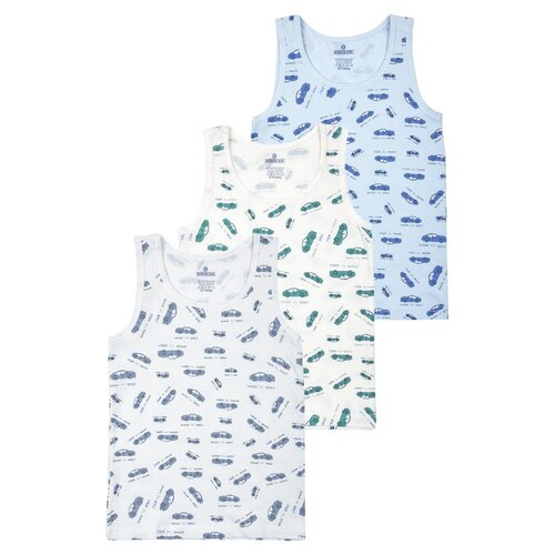 Купить Майка BAYKAR 3 шт., размер 158/164, молочный/серый/голубой, Белье и пляжная мода