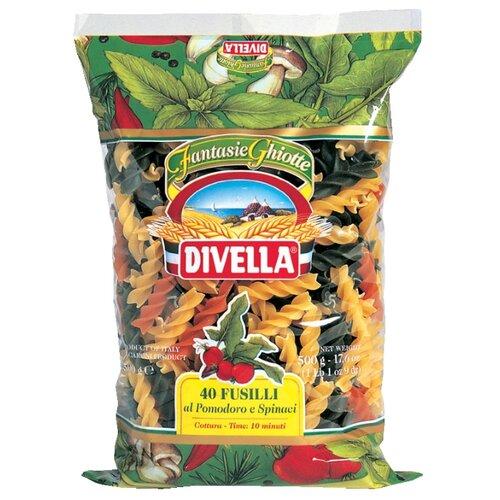 Divella Макароны Fusilli 40 с томатами и шпинатом, 500 г