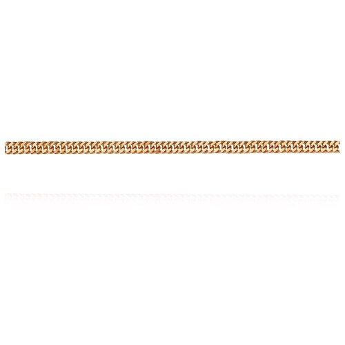 АДАМАС Цепь из золота плетения Панцирь одинарный ЦП220А2-А51, 50 см, 1.4 г