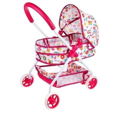 Купить Коляска-люлька Mary Poppins Фантазия 67377 малиновая, Коляски для кукол