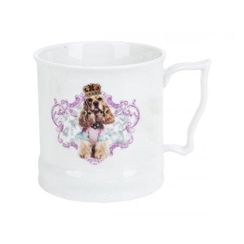Polystar collection Кружка Королевские собаки L1120047 485 мл белый/лиловый подставка для кухонных инструментов polystar collection джем 9 5х14 26 см
