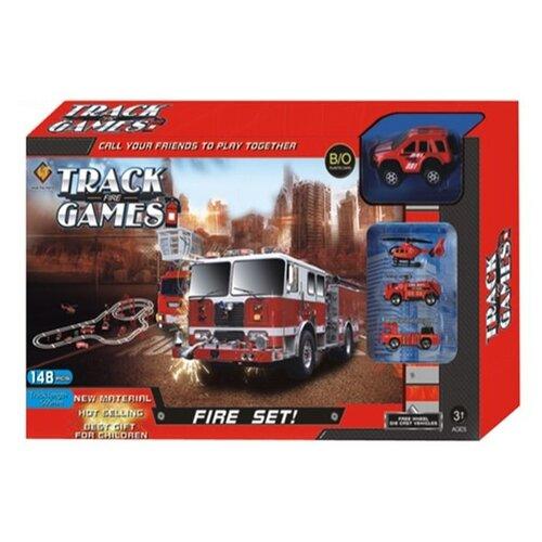 Трек Shantou Gepai Пожарная бригада (663-X3) набор пазлов пожарная бригада 2 х 24 детали