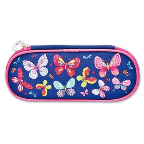 Феникс+ Пенал Бабочки (46260) синий/розовый