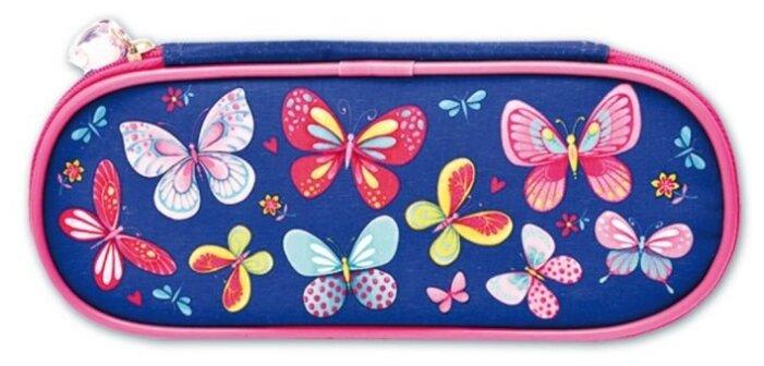Купить Феникс+ Пенал Бабочки (46260) синий/розовый по низкой цене с доставкой из Яндекс.Маркета