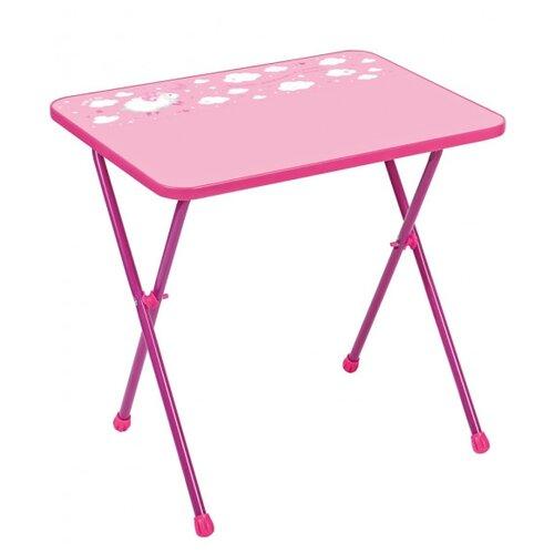 Стол Nika Алина 2 (СА2) 60x45 см розовый