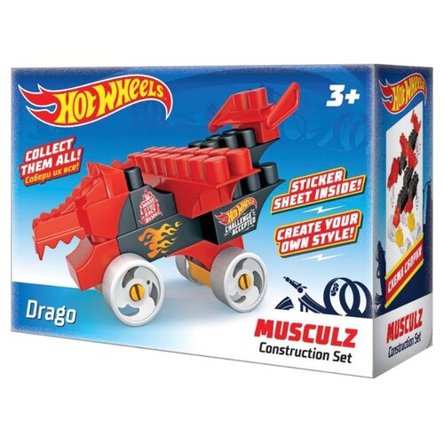 Купить Конструктор Bauer Hot Wheels 713 Musculz Drago, Конструкторы
