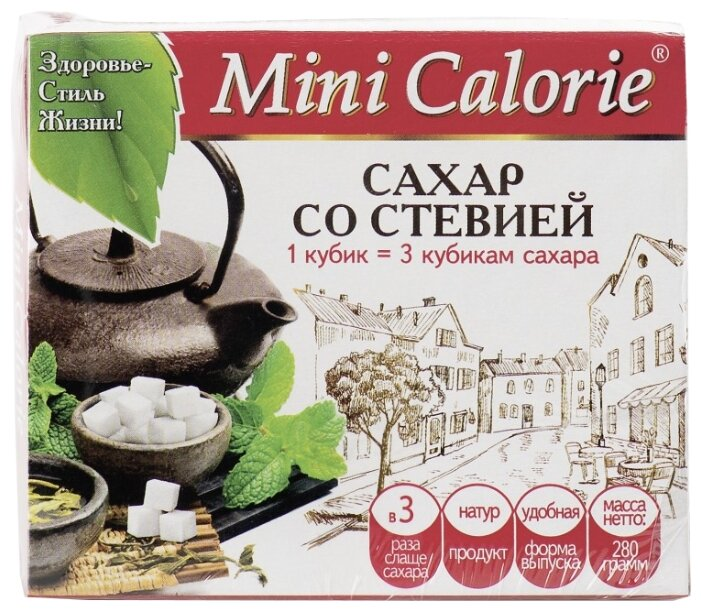 Mini Calorie Сахар со стевией в кубики