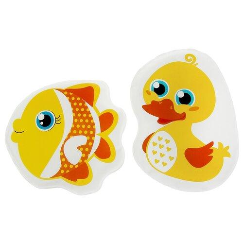 Купить Набор для ванной Крошка Я Уточка и рыбка (3045308) желтый, Игрушки для ванной