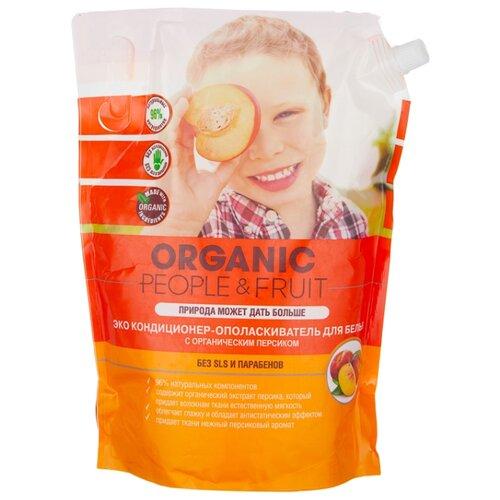 Organic People Эко кондиционер-ополаскиватель для белья с органическим персиком, 2 л, пакет