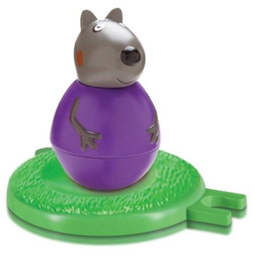 Купить Неваляшка РОСМЭН Щенок Дэнни (29648) 7.8 см фиолетовый/зеленый, Неваляшки
