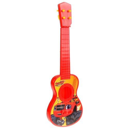 Играем вместе гитара Вспыш B1632045-R3 желтый/красный играем вместе труба мимимишки b782628 r3 желтый красный