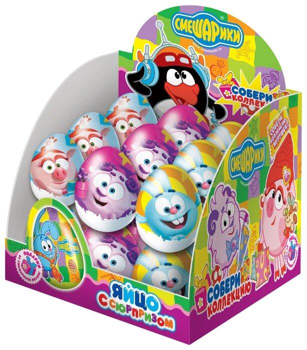 Шоколадное яйцо Конфитрейд Смешарики с игрушкой, молочный шоколад, коробка