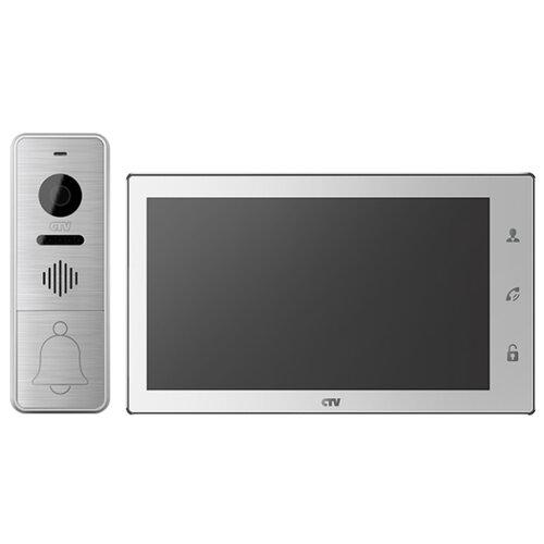 Комплектная дверная станция (домофон) CTV CTV-DP4706AHD серебро (дверная станция) белый (домофон)