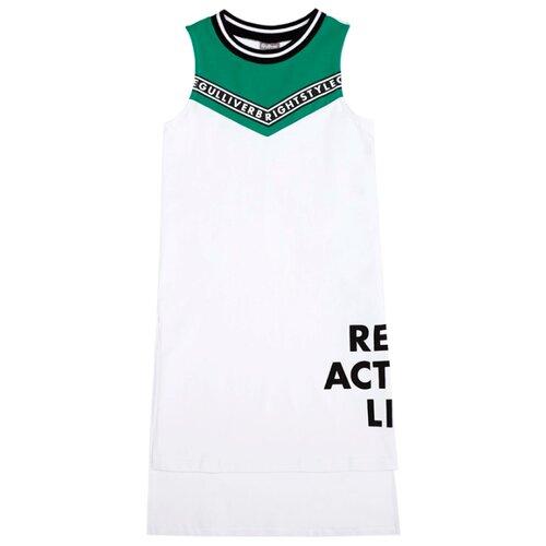 Туника Gulliver, размер 170, белый платье oodji ultra цвет красный белый 14001071 13 46148 4512s размер xs 42 170