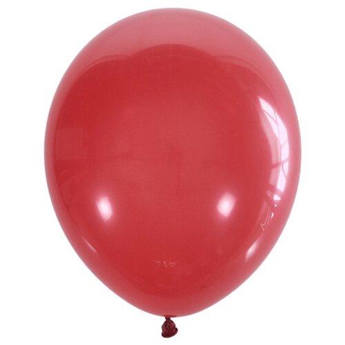Набор воздушных шаров Поиск Пастель 30 см (100 шт.) красный