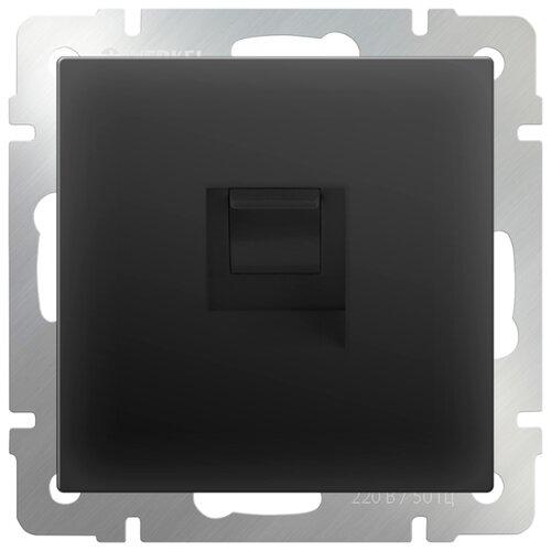 Фото - Розетка для интернета / телефона Werkel WL08-RJ-11, черный розетка для интернета телефона werkel wl01 rj 11 белый