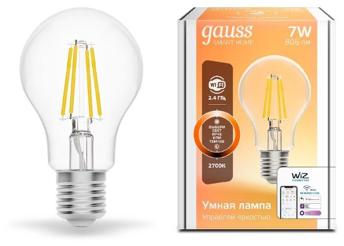Лампа светодиодная gauss 1200112, E27, A60, 7Вт фото 1
