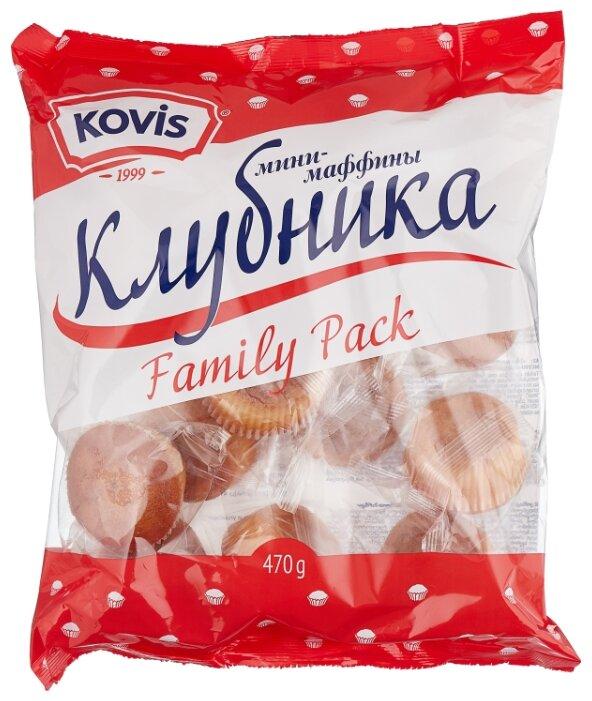 Мини-маффин KOVIS с начинкой клубника (16 шт.)