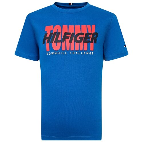 Купить Футболка TOMMY HILFIGER размер 128, синий, Футболки и майки