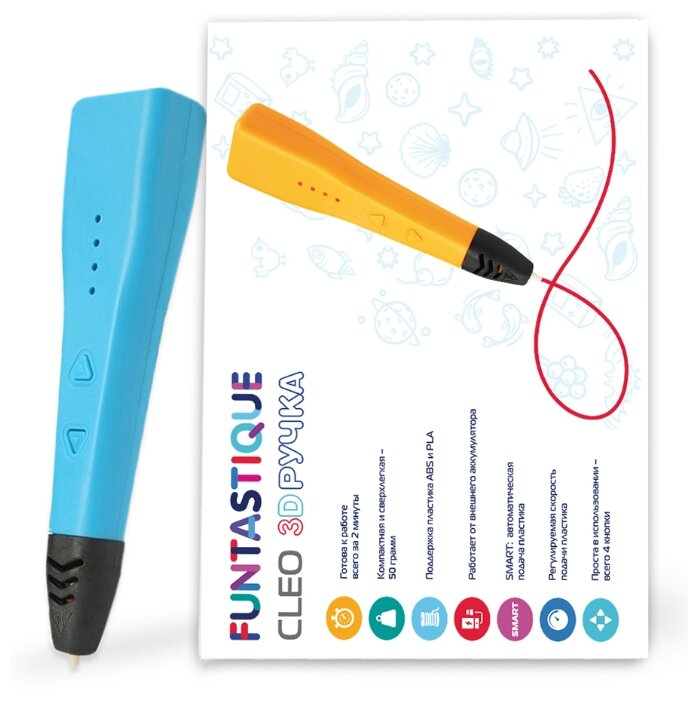 3D-ручка Funtastique CLEO синий фото 1