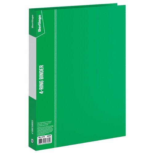 Купить Berlingo Папка на 4-х кольцах Standard А4, 25 мм, пластик зеленый, Файлы и папки