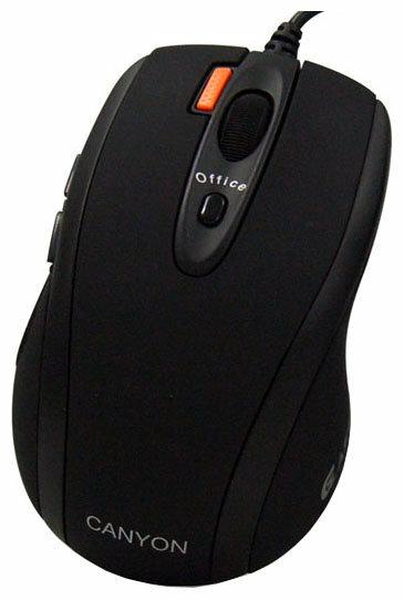 Мышь Canyon CNR-MSL5 Black USB+PS/2