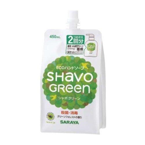 Мыло жидкое Saraya Shavo Green (наполнитель), 450 мл