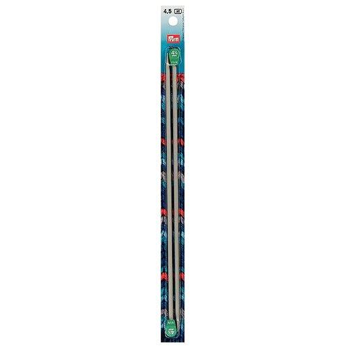 Спицы Prym алюминиевые, диаметр 4.5 мм, длина 35 см, жемчужно-серый