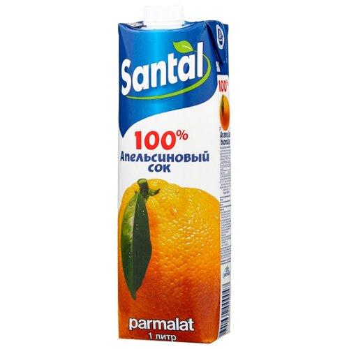 Сок Santal Апельсин, с крышкой, без сахара, 1 л сок santal апельсин без сахара 0 2 л 24 шт