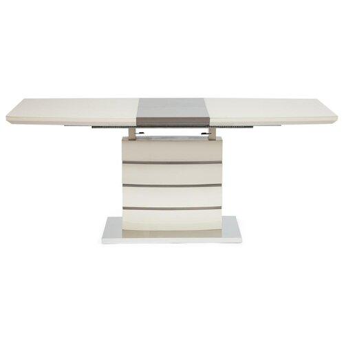 Стол кухонный TetChair Wolf 8053-2, раскладной, ДхШ: 120 х 80 см, длина в разложенном виде: 160 см, butter white