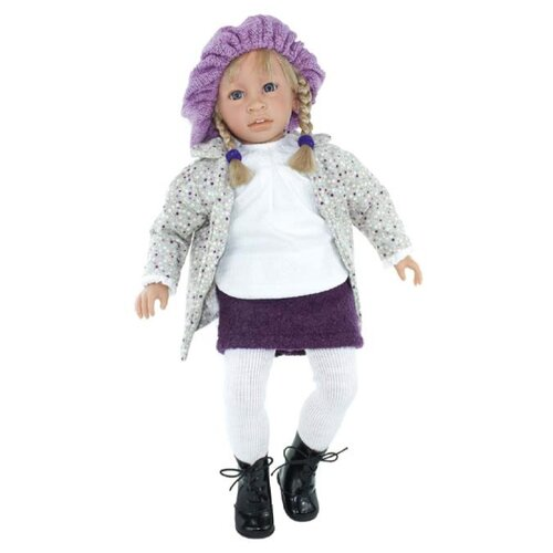 Кукла Lamagik Сесилия в серой куртке и вязаном берете, 60 см, P6004