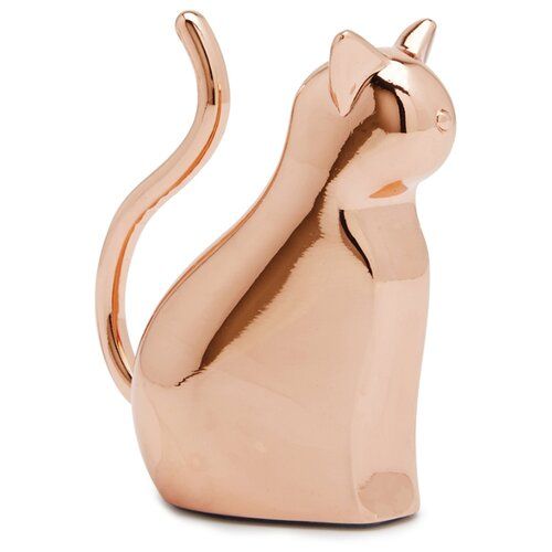 Подставка для колец Umbra Anigram кот, медь подставка для колец туфелька 14 5 13см уп 1 32шт