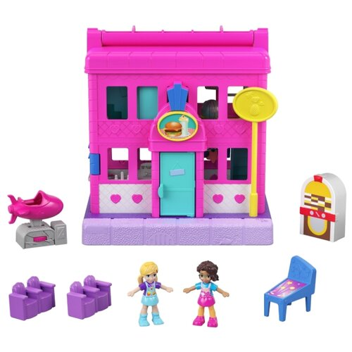 Polly Pocket (Mattel) Закусочная Pollyville, GGC29, розовый mattel polly pocket fry98 комната полли