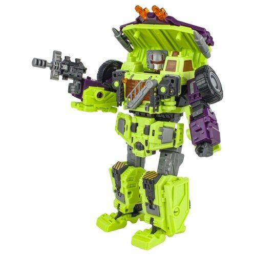 цена Трансформер 1 TOY Трансботы Инженерный батальон XL: Мега Дампербот Т16436 зеленый/фиолетовый онлайн в 2017 году