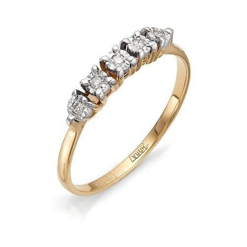 Мастер Бриллиант Кольцо с 5 бриллиантами из красного золота 1-105-486, размер 18 мастер бриллиант кольцо с 6 бриллиантами из красного золота 1 106 567 размер 18 5