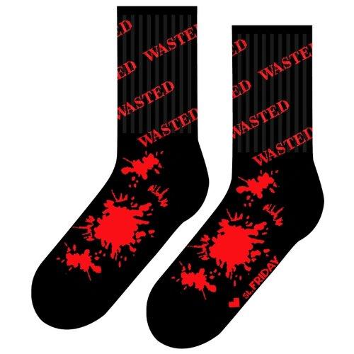 Фото - Носки St. Friday Потрачено, размер 34-37, черный/красный носки st friday цой жив гуф умер размер 34 37 черный