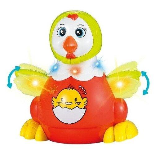 Купить Развивающая игрушка Zhorya Потеша Курочка красный/белый/желтый, Развивающие игрушки