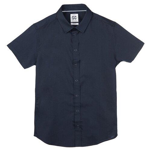 Рубашка playToday размер 128, темно-синий, Рубашки  - купить со скидкой