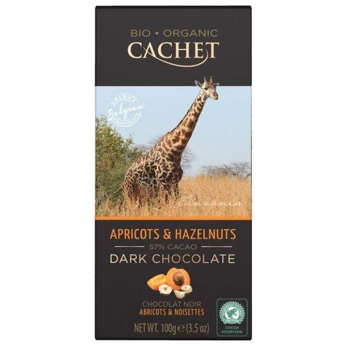 Шоколад Cachet горький с фундуком и абрикосом, 100 г