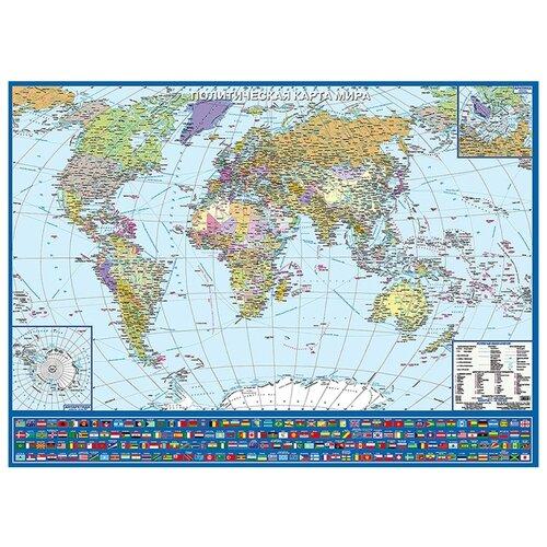 РУЗ Ко Политическая карта мира с флагами (Кр445пк) пазл руз ко карта звездного