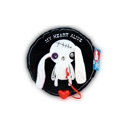 Игрушка-подушка Magic Bear Toys Заяц Живое сердце 28 см magic bear toys мягкая игрушка мяч мягкий диаметр 7 см