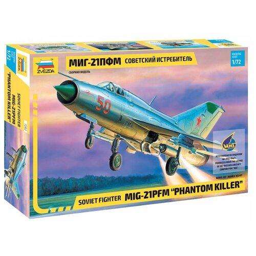 Купить Сборная модель ZVEZDA Советский истребитель МИГ-21ПФМ (7202) 1:72, Сборные модели
