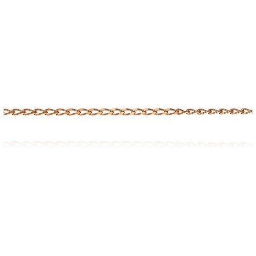 АДАМАС Цепь из золота плетения Панцирь вытянутый ЦПВ125А2-А51, 55 см, 1.26 г