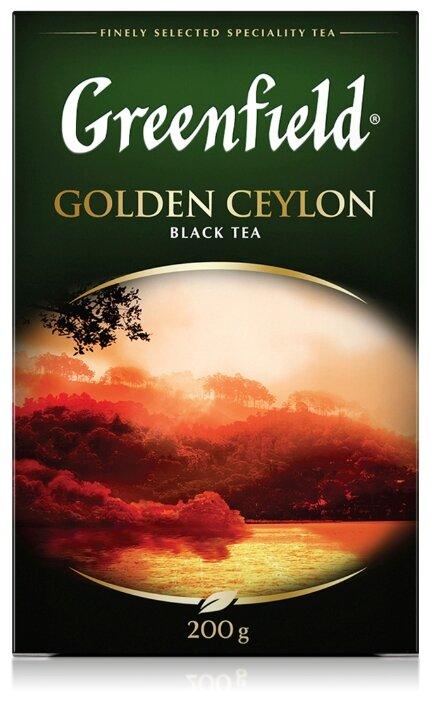 Чай черный Greenfield Golden Ceylon — купить по выгодной цене на Яндекс.Маркете